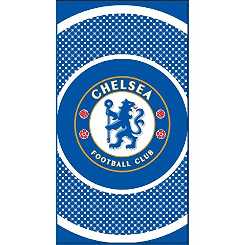 Forever Collectibles Chelsea FC Bullseye Towel, Blue/White, 70 x 140 Cm EA-FN41-HAUB