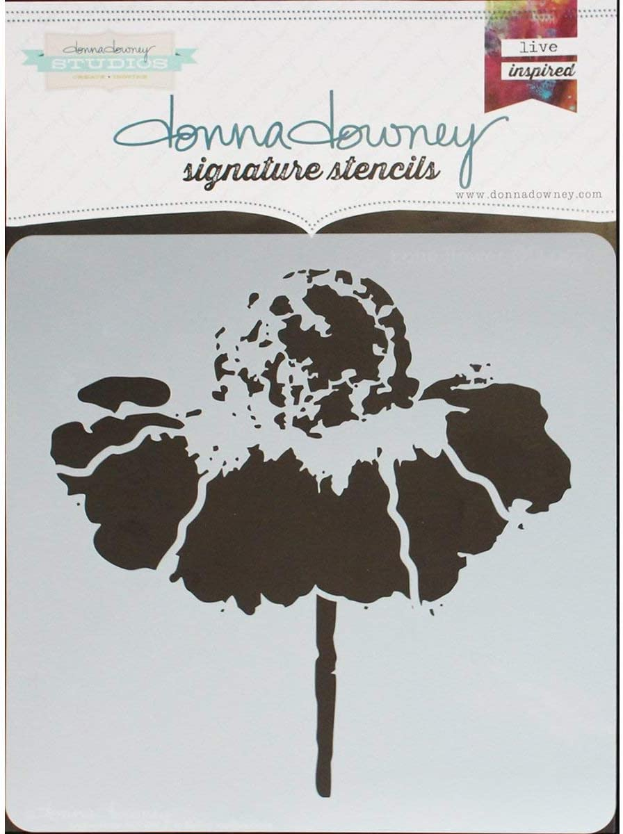 Donna Downey Signature Stencils 8.5X8.5-Cone Flower