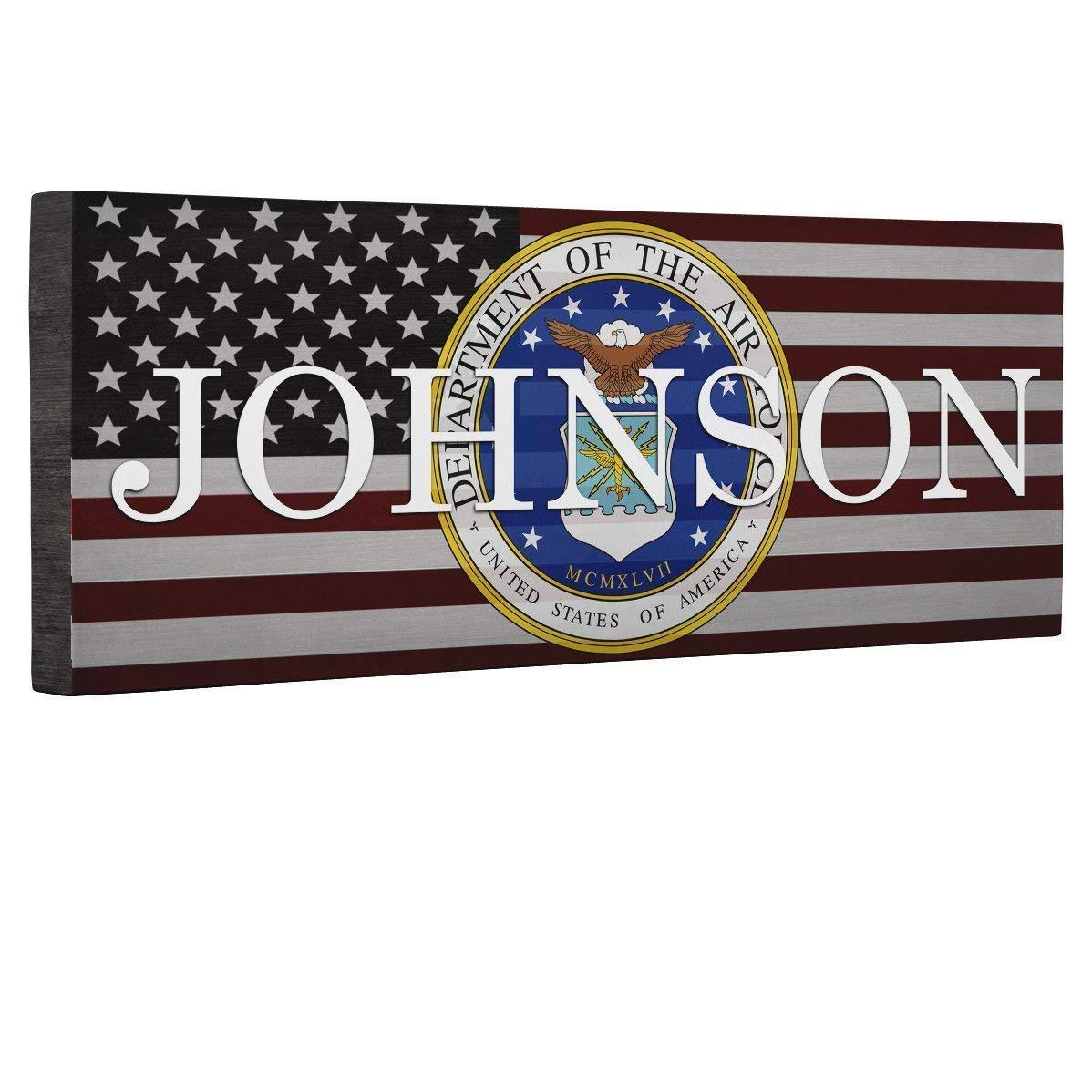 Military Hero Air Force Flag CANVAS Home D cor