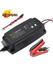 12V Battery Charger 2A 4A 8A 7 Stage CE Approved Fast AGM/SLA/Gel Sealed Lead Acid Battery Charger for Car Electric Lawn Mower or Garden