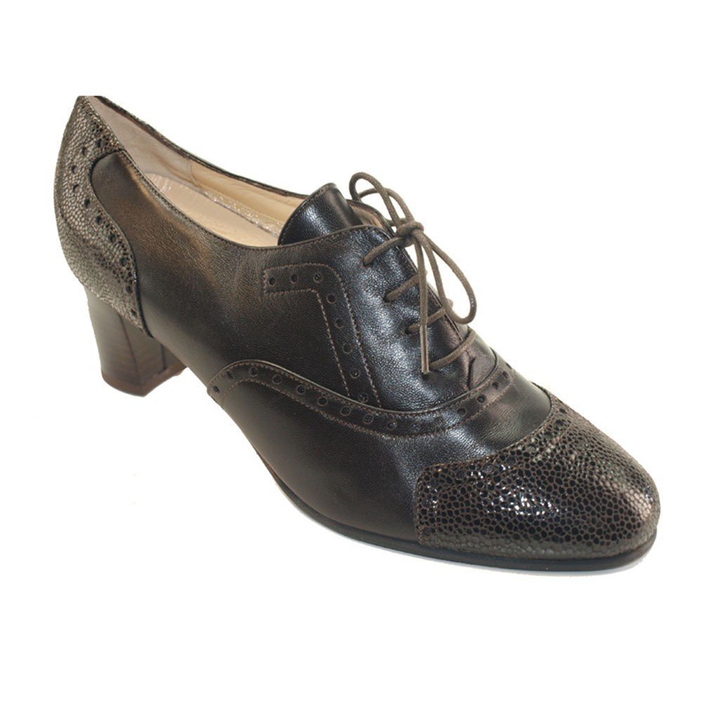 Sabatini Calzature Hergos H 9203 dunkelbraun Nappaleder – Schuh elegante, Half bequeme – Winter und Half elegante, Scoop, echtes Leder Dunkelbraun 24ff47