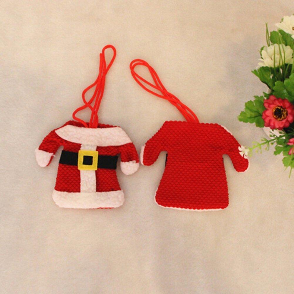 Romote Vajilla de la Navidad bolso de la cubierta de cuchillos y accesorios Forks Navidad puso de ropa y pantalones: Amazon.es: Hogar