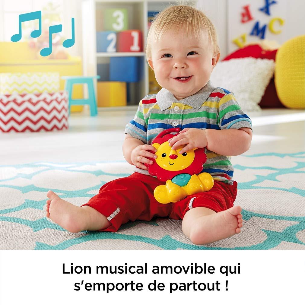 5 Jouets Amovibles d/ès la Naissance CHP85 Fisher-Price Amis de la Jungle 3-en-1 Tapis d/Éveil Musical pour B/éb/é Transportable 2 Arches de Jeu