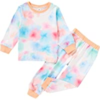 2Pcs Toddler Kids Boys Girls Tie Dye Clothes Set Baby Casul Fall Winter Outfit
