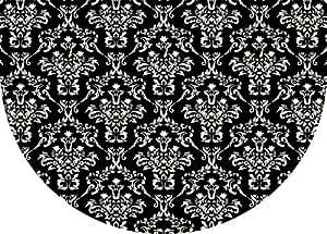 Premium Comfort Falcon Crest Half-Round Mat, 22 by 31-Inch, Onyx