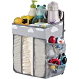 Hanging Diaper Caddy-Diaper Stacker for Changing Table,Crib, Playard or Wall,Diaper Holder Organizer Hanging,Baby Essentials