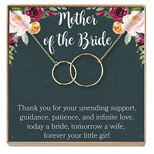 - Mother of the Bride Gift Necklace: Wedding Gift, Bridal Party, Rehearsal Dinner, Woman of My Dreams, Parent of Bride (gold-plated-brass, NA)