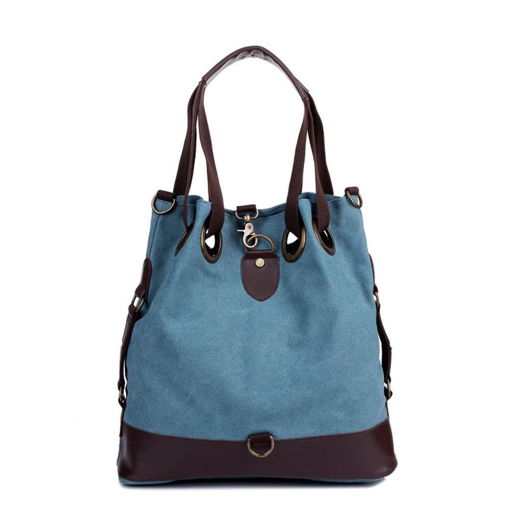 Aibag Vintage Literary Women's Casual Canvas Hobo Everyday Handbag Bucket Shoulder Bag Big