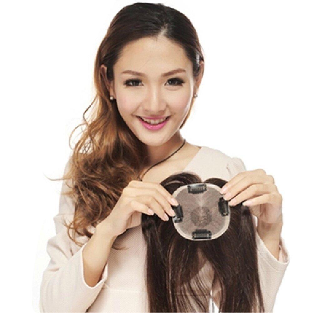 Remeehi 最高級 100%人毛 部分ウィッグ ストレートウィッグ つけ毛 増毛部分かつら 人毛で制作 ヘアピース 白髪隠れ 通気性よく ポイントウィッグ レディースヘア 女性用 おしゃれかつら B01M0TEWED