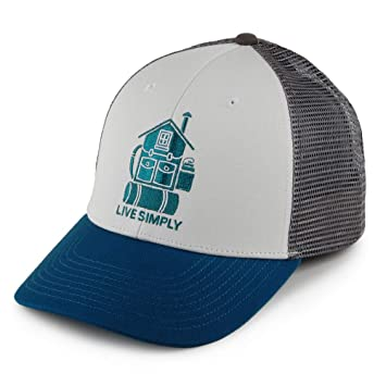 Patagonia Live Simply Home LoPro Trucker Hat Gorra, Unisex Adulto, White, Talla Única: Amazon.es: Deportes y aire libre