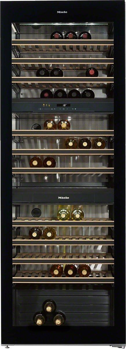Miele KWT 6833 SG Weinkühlschrank / Parallele Lagerung von Wein durch separate Temperaturzonen / 192 cm Höhe [Energieklasse A]
