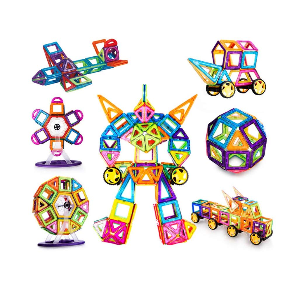 LIUFS-TOY Magnetic Piece Genuine Variety Pulling Building Blocks Children's Educational Rod Assembly Construction (Size : 268 Pieces)