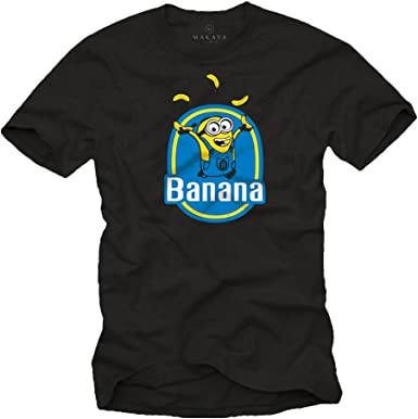 Camiseta Negra - Minion Banana: Amazon.es: Ropa y accesorios