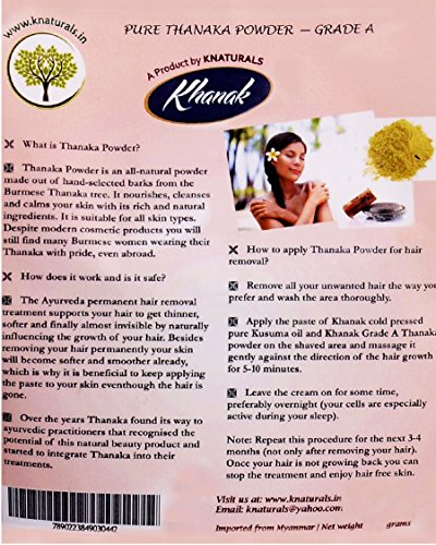 Knaturals Thanaka Powder For Soft Smooth And Permanent Hair