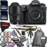 6Ave Nikon D850 DSLR Camera (Body Only) 1585 with Sigma 12-24mm f/4 DG HSM Art Lens for Nikon F Bundle International Model