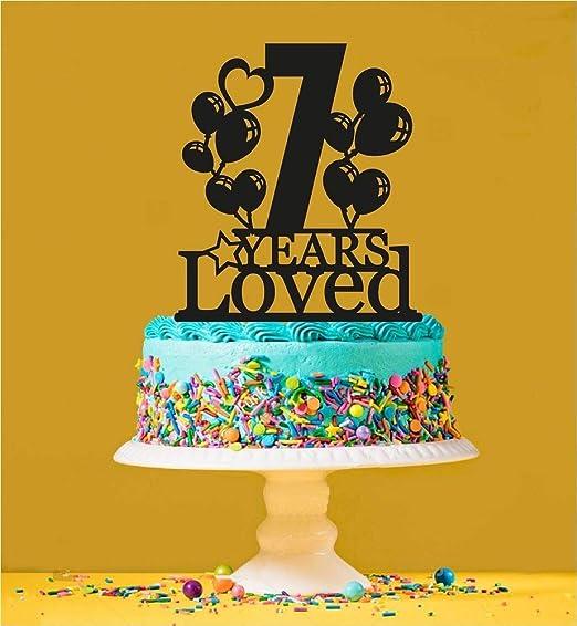 Decoración para tarta de 7º cumpleaños, 7 años de edad ...
