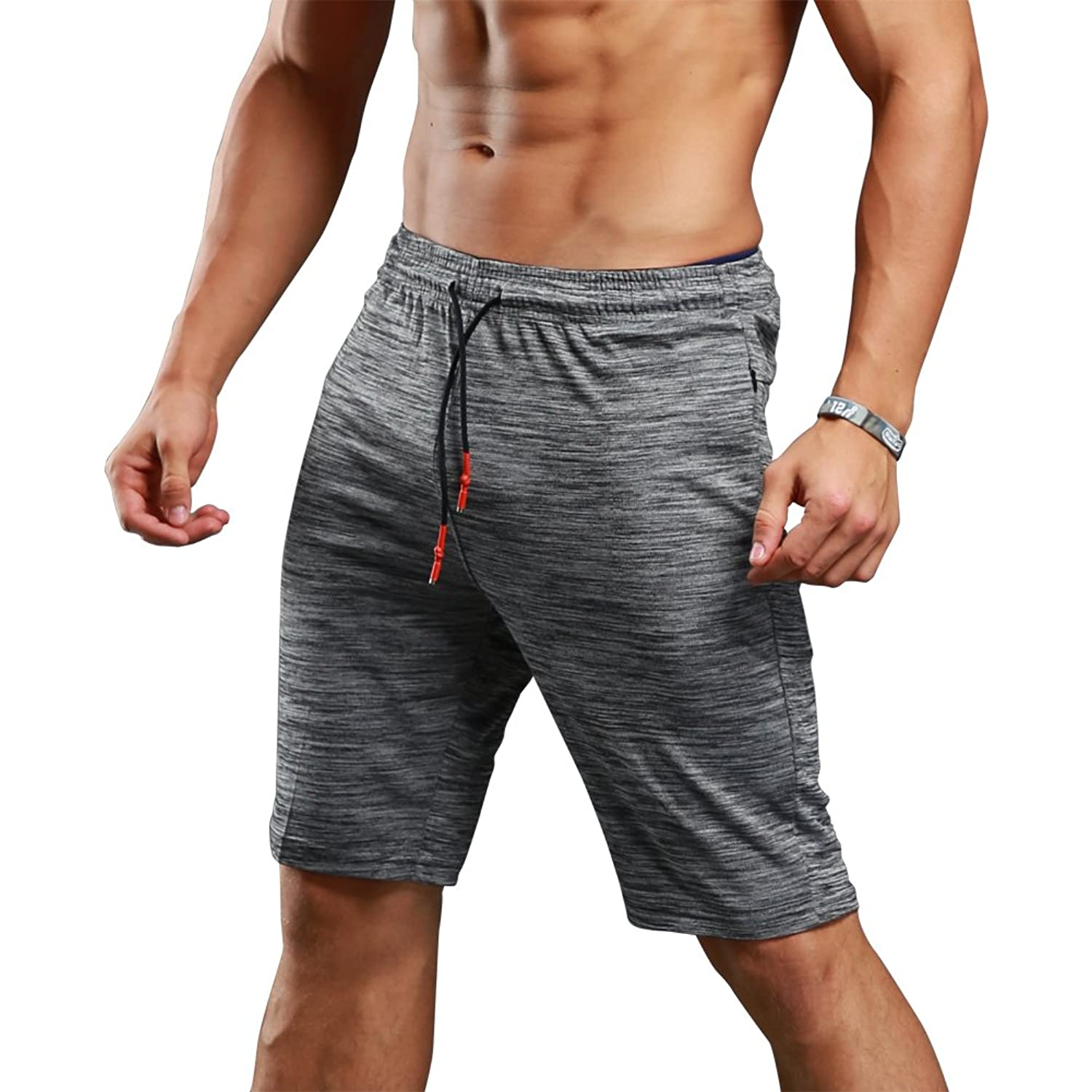 Gerlobal Men's Bodybuilding Gym Running Workout Shorts Active Training  Shorts