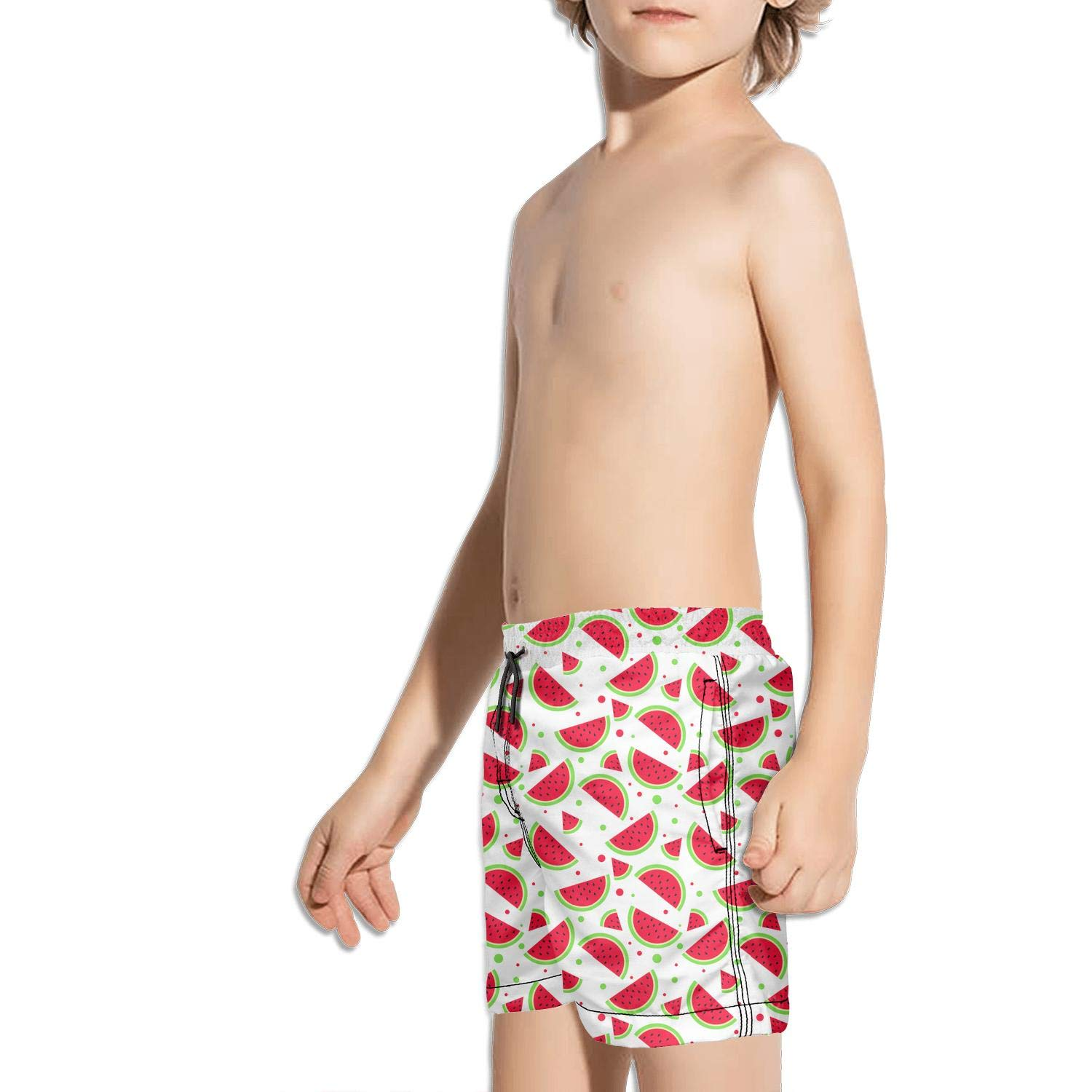 Kids Watermelon Slices Fruit Swimming Trunks Running Activewear Quick-Dry Boardshorts