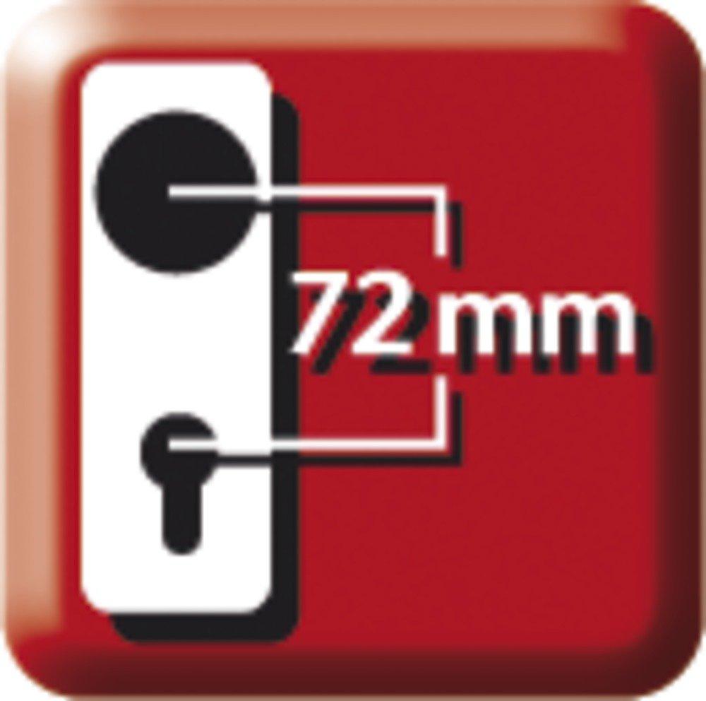 ABUS T/ür-Schutzbeschlag KLZS714 F4 mit Zylinderschutz eckig 08425