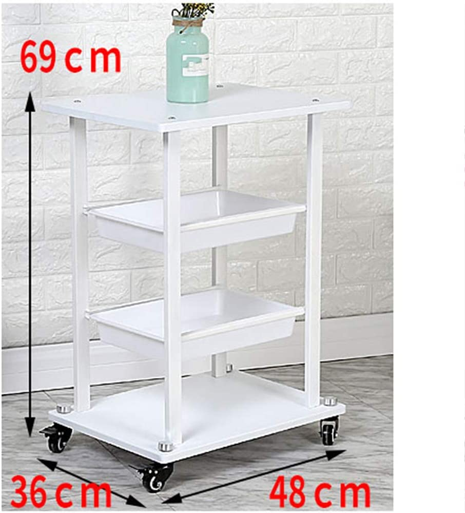 Medical Instruments Beauty Salon Trolley Cart Pedicure Roller Tool Cart for Beauty Instrument Tattoo Hairdresser Barber Dentist Maintenance Small Bubbles Storage Cart