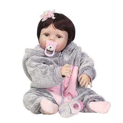 Runrain - Muñeca recién nacida con capucha (silicona, 55,8 ...