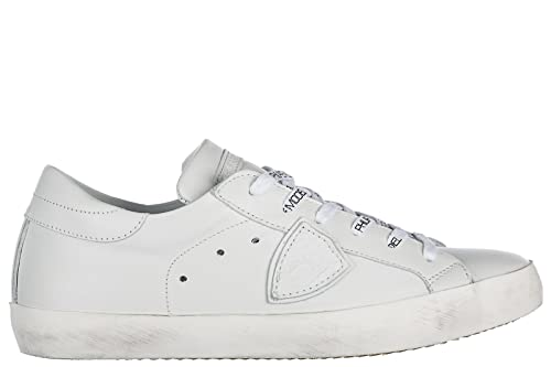 Recomendar La Venta En Línea Venta Footaction Philippe Model Scarpe Sneakers Uomo in Pelle Nuove Paris Bianco EU 43 A18ECLLU V007 Comprar Barato Recomienda wfxXXq7