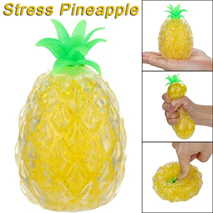 Novelty Funny Anti Stress Ball Toys Yellow Squishy Banana Ball Stress Pressure Cute Bag Parts Accessories Luggage & Bags
