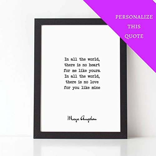 Amazon Com Personalized Quote No Love For You Like Mine Maya