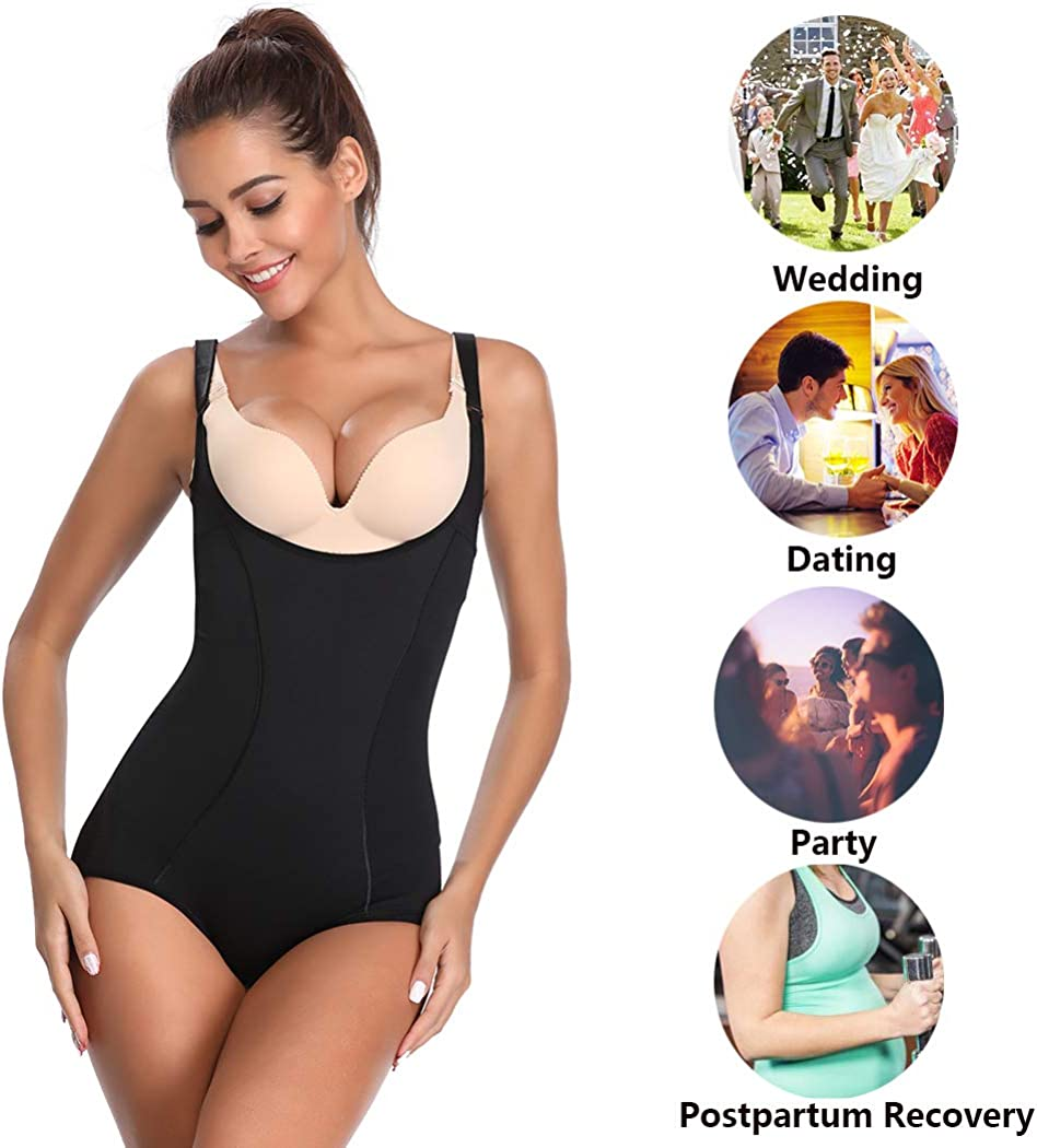 Womens Shapewear Bodysuit Full Body Shaper Seamless Tummy Control Underwear/Body Briefer