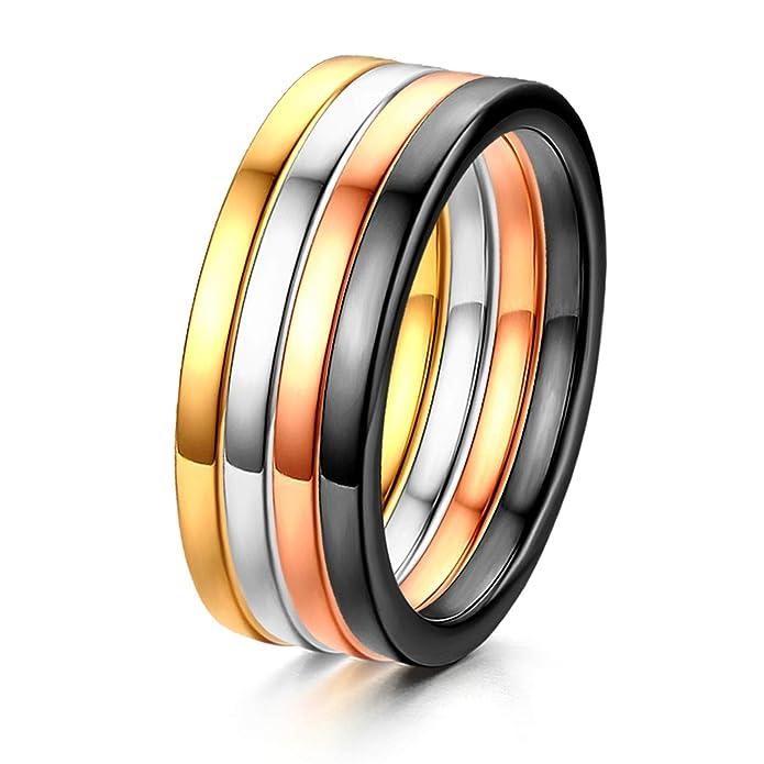Gold Gr/ün Retro Edelstahl Katzenauge Stein Poliert Ring Band JewelryWe Schmuck Herren-Ring