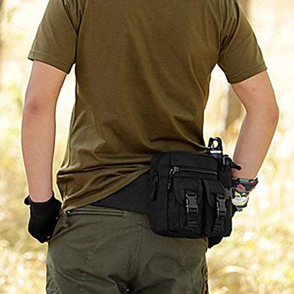 COOELAD Marsupio Militare Marsupio Marsupio Marsupio Marsupio con portabottiglia dAcqua Custodia per Trekking Escursionismo Camminare in Bicicletta Ciclismo Arrampicata Campeggio Viaggi
