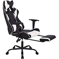 Office Chair Gaming Chair Ergonomic Swivel Chair High Back Racing Chair Footrest Lumbar Support Headrest