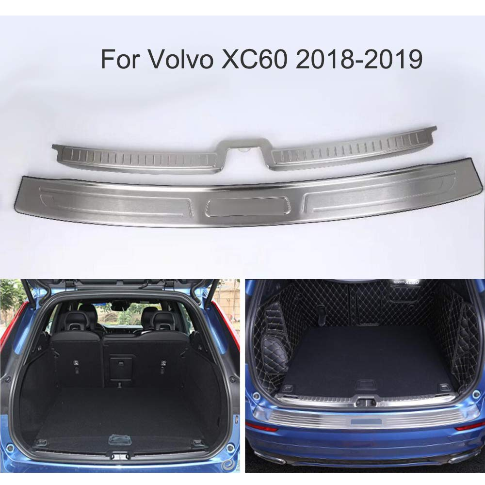 Yingchi 2 protectores cromados para la parte trasera de la puerta del maletero del coche Para XC60 2018 2019