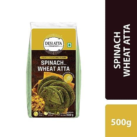 DESI ATTA CO Spinach Wheat Atta 500 G