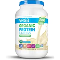 Vega Organic Protein and Greens Powder, Vanilla, 26 Servings, 2.2 Pounds, Packaging May Vary