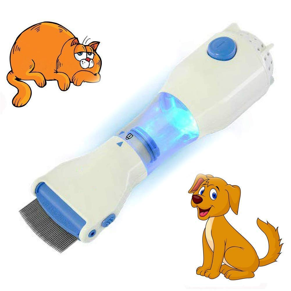 Electric Head Comb and Natural Head Lice Treatment - Pet Dog Cat Head Clean Capture Comb,Maintain Pet Health