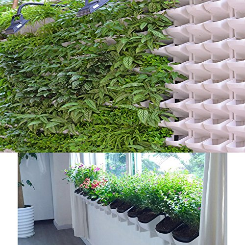 Adeeing 2-Pocket Vertical Gardening Limited Space Wall Stackable Planters for Indoor Outdoor Decoration or Growing Plants (Wall Porcelain Pocket)