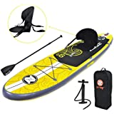Zray Inflatable Paddle Board Stand Up SUP Comes with Adjustable Aluminum Paddle/High-Pressure Pump with Gauge/Big Durable Backpack