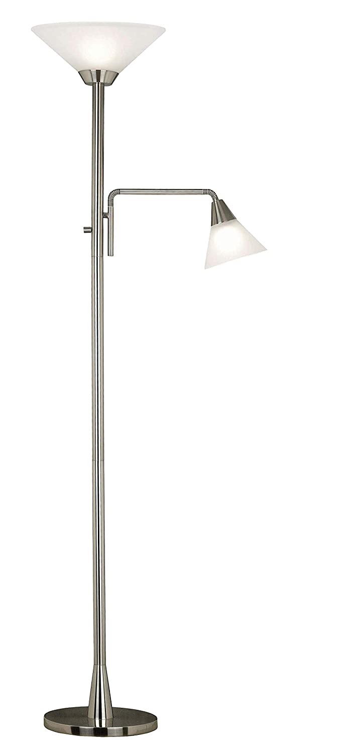 Kenroy Home 21002BS Rush Torchiere, Brushed Steel