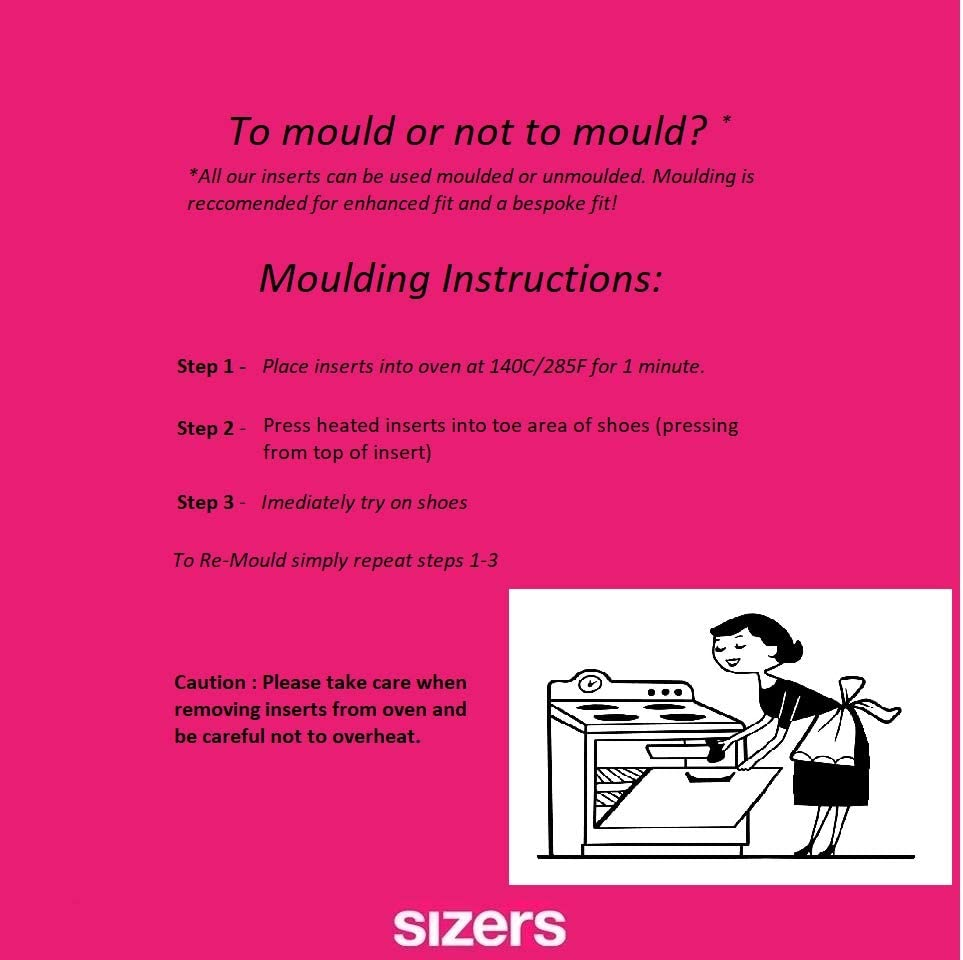 Shoe Sizing Inserts (Pink (1/4 Pointed