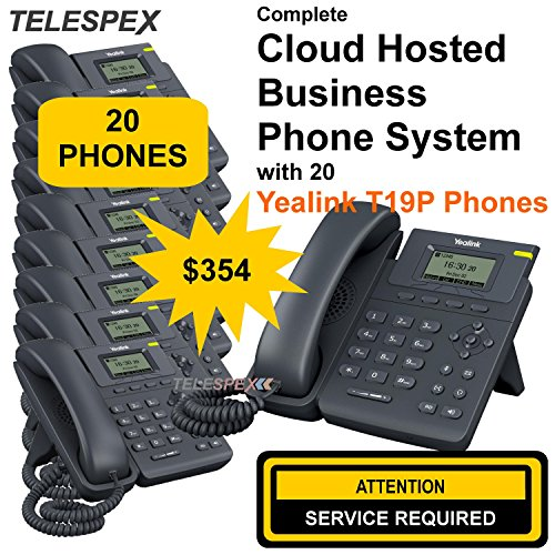 LIMITED TIME OFFER - BUY 6 VOIP PHONES AND GET 14 FREE - TELESPEX Cloud Business Phone System with 20 Phones- (800) ()