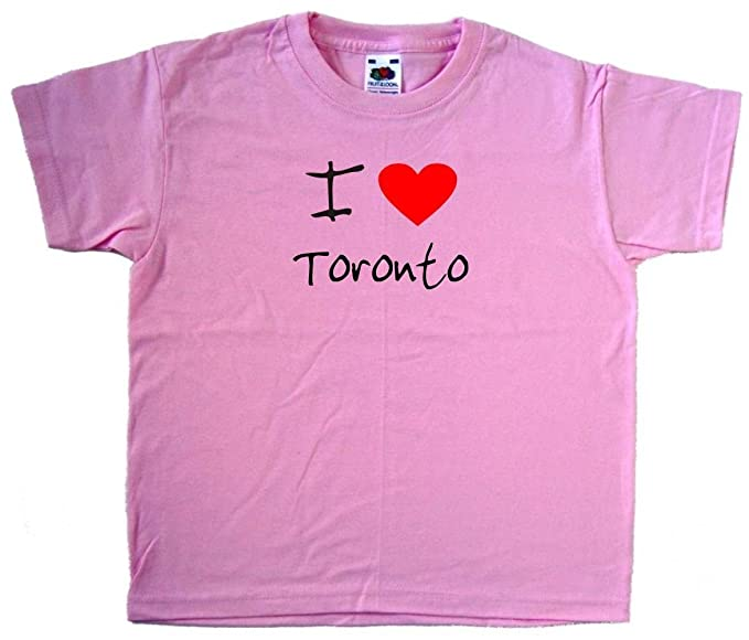 I Love Heart Toronto Pink Kids T-Shirt