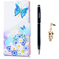 Sony Xperia L1 Case, YOKIRIN Premium PU Leather Wallet Case High-Class Strong Magnetic Closure Folio Flip Cover Colorful Painted Design Stand Feature Cash Card Holder Full Body Shell For Sony Xperia L1