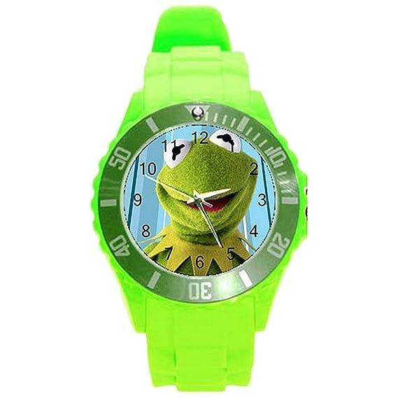Kermit la rana Niñas o niños reloj con reloj banda de ...