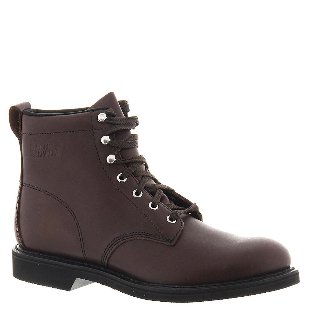 Work America Mens Closed Toe Safety Boots B000PD1FRE 4 D US Mens|ブラウン ブラウン 4 D US Mens