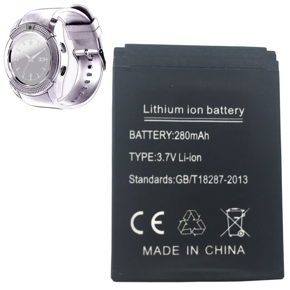 Amazon.com: Smart watch battery V8 rechargable lithium ...
