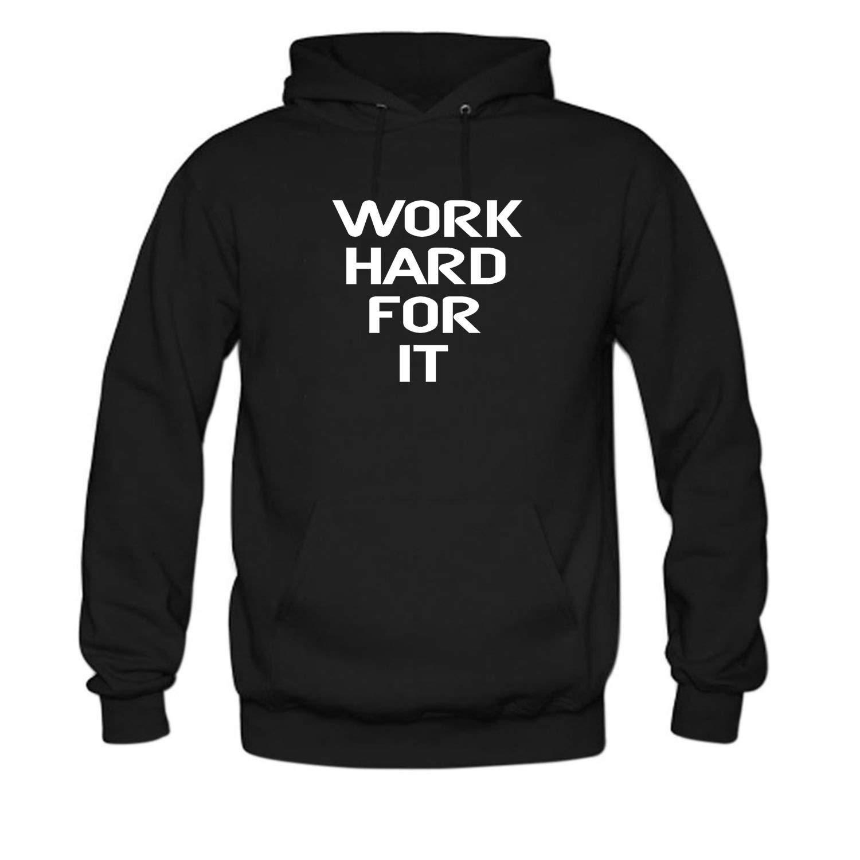 f953de947 Black Black Black Bbhappiness Mens Work Hard for It Hoodiess 054a96 ...