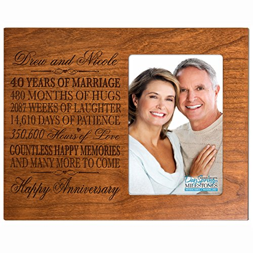 Amazon.com - Personalized 40th Year Wedding Anniversary Frame Gift ...