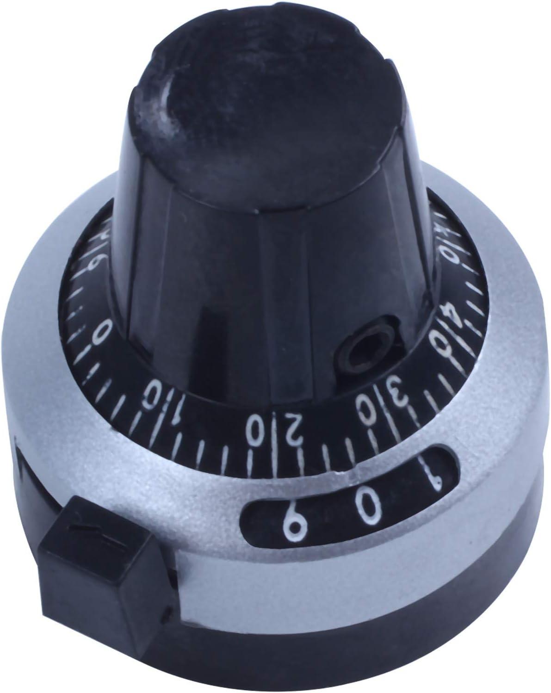 Blu REFURBISHHOUSE 3590S-2-501L Resistore da 500 Ohm Ohm Potenziometro Rotativo Ad Alta Precisione Pot Potenziometro con 10 Giri Quadrante Rotativo Manopola Manopola Set Scala
