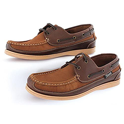 Men s Helmsman by Seafarer Leather Deck Shoes Boat Loafers Nubuck sizes 7 -  12 4d3217bd0